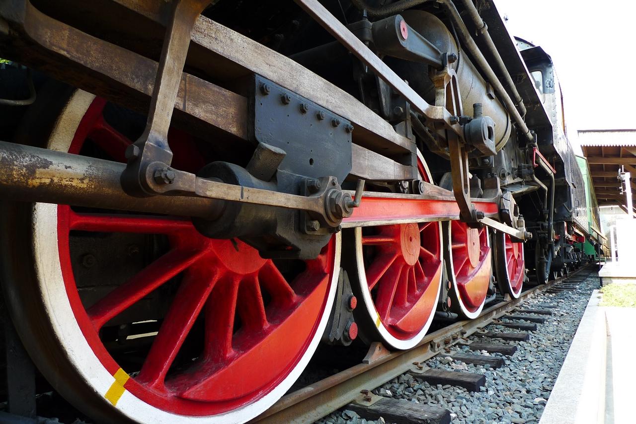 Train exhibit at Shanghai Train Museum