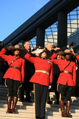 RCMP Saluting Obama - Inauguration