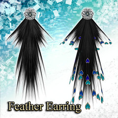 Feather Earring (Water)