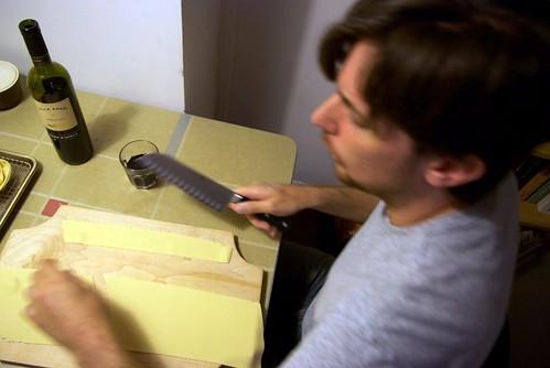 Cutting tagliatelle