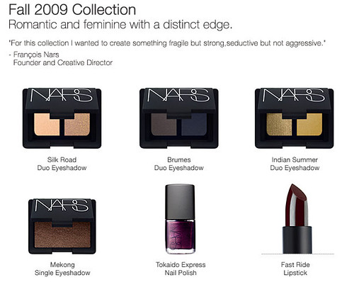 NARS Fall Makeup Collection for 2009