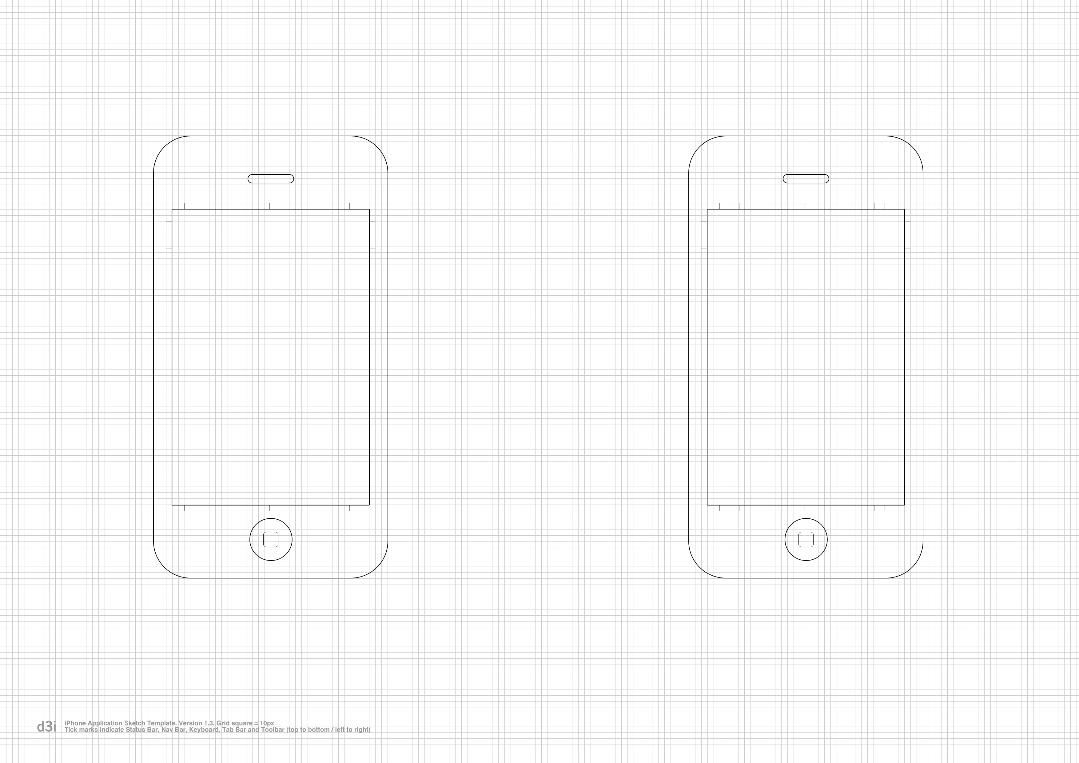 Iphone Application Sketch Template V1 3