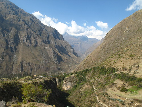Walking along the sacred valley