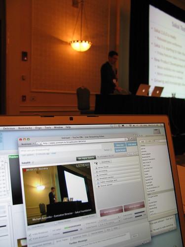 Ustreaming Process at the Sakai Conference