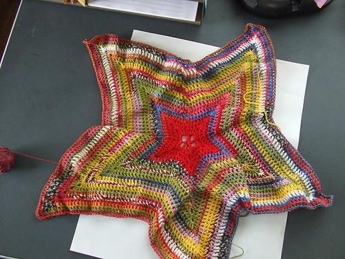 Sock Yarn Star Blanket