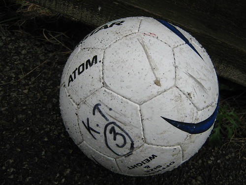 The latest visitors to the Turnbull Ground, Kendal Town, obviously left one of their balls behind - although they did manage to take all three points
