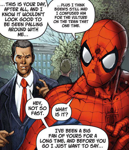 Obama y Spiderman