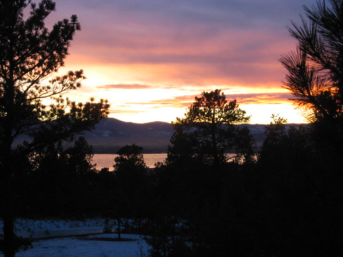 Sunset Over Lake Helena