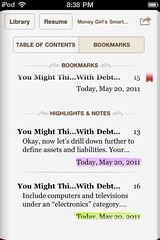 iBooks for iPhone: annotation management