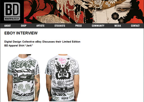 Beautiful Decay Apparel Site