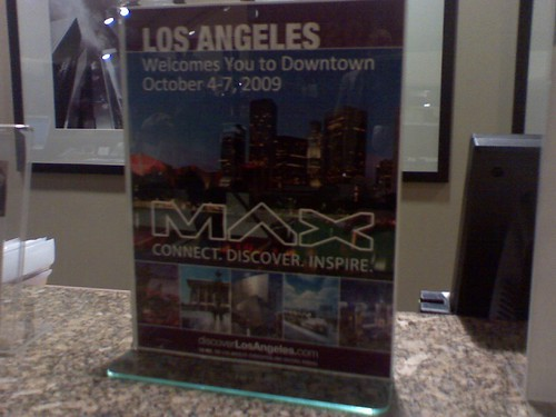 Adobe MAX sign at the hotel