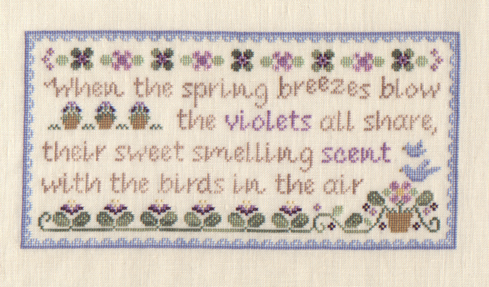 Spring Violets by Country Cottage Needleworks