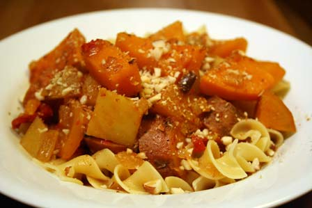 Moroccan-spiced Braised Root Vegetables