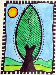 Large Tree Doodle ATC