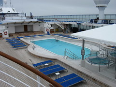 The pool/jacuzzi deck