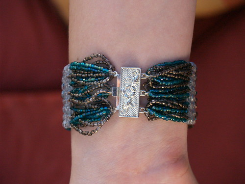 Brick Stitch Bracelet back