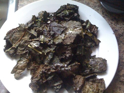kale chips finished!