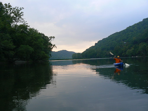 Kayaking in Eggleson - Tony Paddles at Dusk