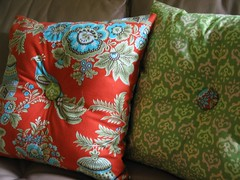 hourglass pillows - back