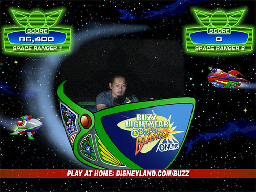 My worst score ever.  I think they reset something, because the ride stopped twice in the middle.  At least you can see Emmetts head this time.  I need to find out where this camera is.