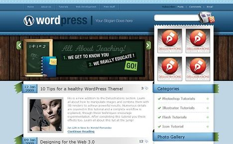 Blues Free WordPress Theme