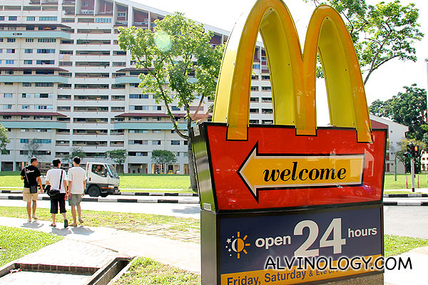 I remember it was a big deal in Potong Pasir when the first McDonald's outlet arrived here