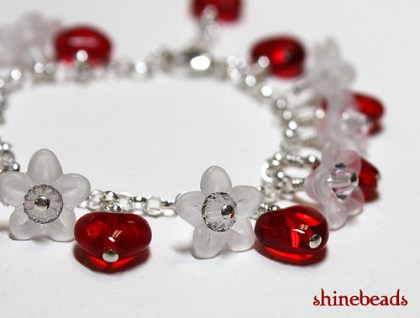 child's heart valentine's bracelet