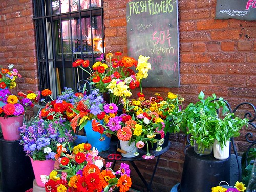 Flowers for sale in Brooklyn Heights.