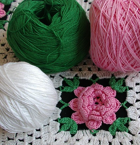 matching thread to repair afghan with