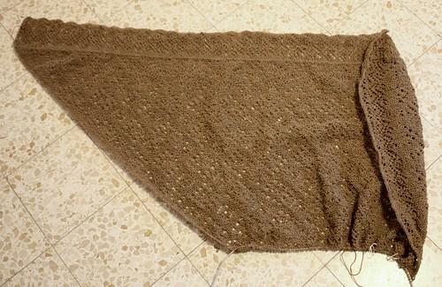 Orenburg shawl in progress