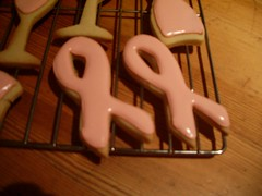 Pink ribbon cookies!