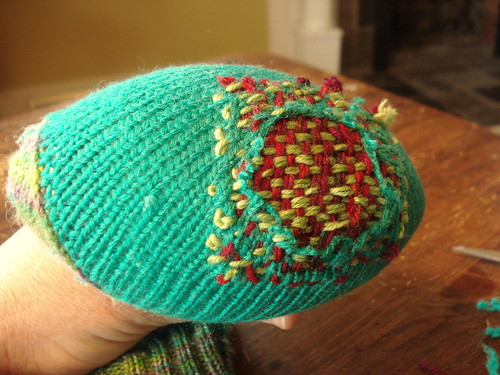 darning complete - outside view