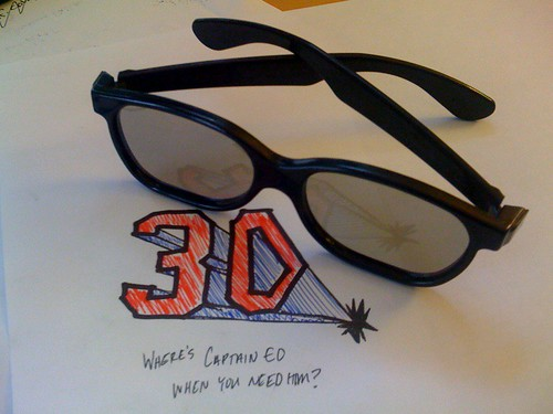 Dont wear these for too long when youre not looking at a 3D movie = throw up