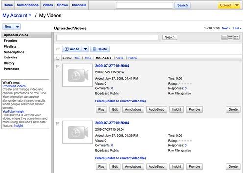 youtube conversion errors