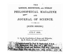 bohr's publication