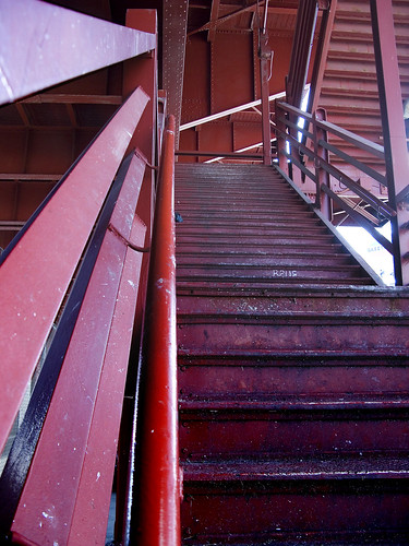 Pulaski Bridge Stairway by you.