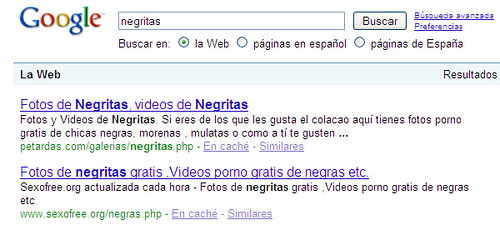 Negritas en Google