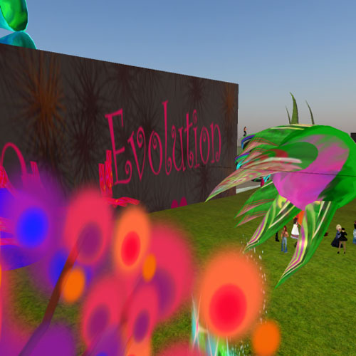 Evolution gallery (wide shot)