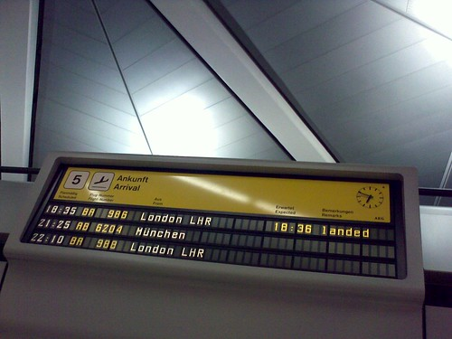 Nokia E71 shot of an airport display