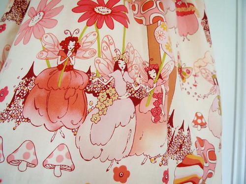 Summer Fairy Dress - fabric detail