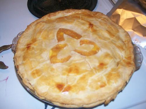 Ginger Peach Triskale Pie