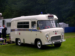 A BMC Ambulance from the 1960s. The type mentioned in Larkin's poem.