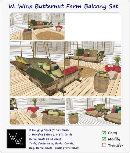 W. Winx Butternut Farm Balcony Set