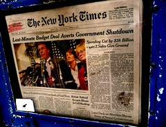 Government Shutdown Averted, The New York Time...