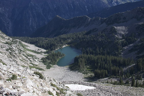 Red Pine Lake From Above