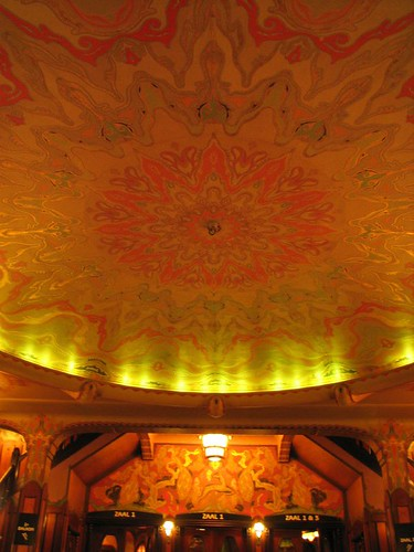 The magnificent ceiling of Tuschinski Theatre by you.