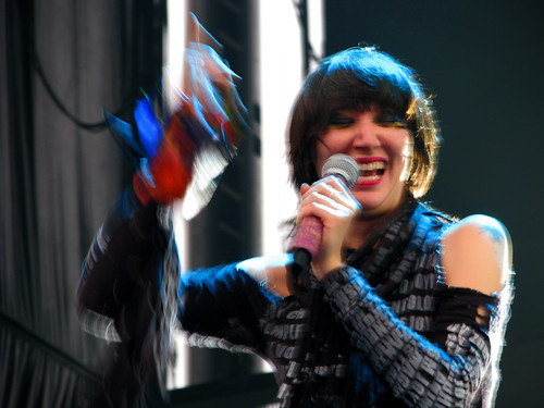 Yeah Yeah Yeahs at All Points West; photo by Jillian Mapes