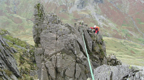 Nobz on the eponymous Pinnacle traverse