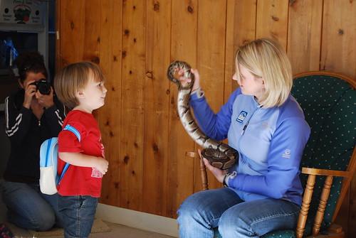 elliott meets a snake