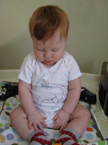 contemplating the socks